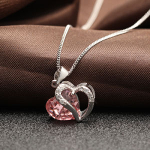 Genuine 925 Sterling Silver Heart Shaped Pendant Necklace pictures & photos