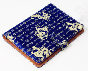 Ethnic Style Silk Cloth Cover Jotter pictures & photos