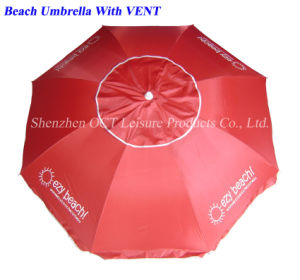Gift Beach Umbrella with Vent (OCT-BUAD7) pictures & photos