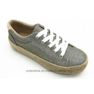 Brand New Ladies Fashion Shoes with Jute Sole (ET-FEK170451W)