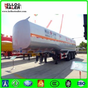 Tri Axle 40000L Oil Tanker Transport Fuel Truck Trailer pictures & photos