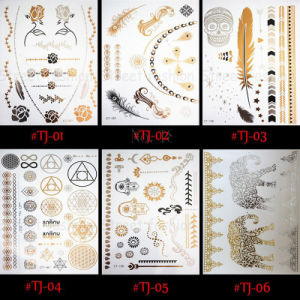 Manufactory for Gold Silver Butterfly Temporary Tattoo Body pictures & photos