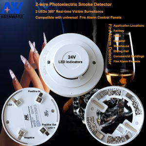 24V Dual LED Current Smoke Detector pictures & photos