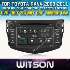 Witson Car Radio with GPS for Toyota RAV4 (W2-D8126T) Steering Wheel Control Front DVR Capactive Screen pictures & photos