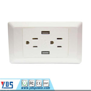 USB Wall Socket American Us Canada Standard Socket 2 Gang pictures & photos