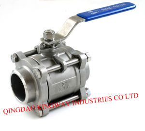 Stainless Steel 3-PC Socket Weld Ball Valve. pictures & photos
