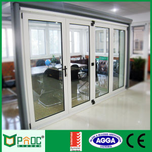 Aluminium Alloy Double Glass Bi-Folding Doors with As2047 Certificate Pnoc008 pictures & photos