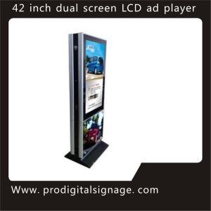 "42"" Free Stand Double Sides LCD Advertising Player Latest Design"