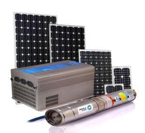 20m 24V DC Solar Water Pump 3cbm Per Hour 384W Lowest Voice pictures & photos
