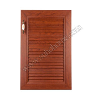 PVC Film Vacuum Blister MDF Kitchen Cabinet Door Made in China Zz70A (Cherry wood - A)
