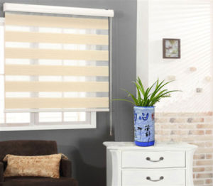 Patterned roller blinds shenzhen perfect home co ltd for Exterior no chain window shade