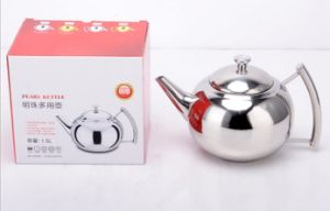 1500ml Stainless Steel Pearl Kettle Coffee Kettle and Teapot (CS-030)