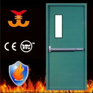 Steel Fireproof Door with Push Bar pictures & photos