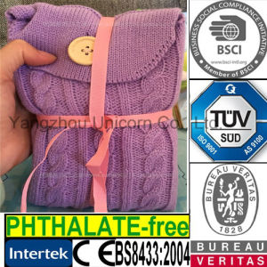 Microwave Heat Bag Lavender Knit Scarf