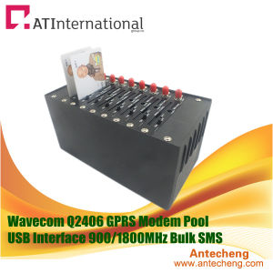 8 Channels Wavecom Q2406 USB GSM GPRS Modem Pool Sending Bulk SMS