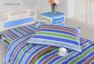 Pink White Stripes Hospital Bed Linen (bed sheet, pillow case and duvet cover)