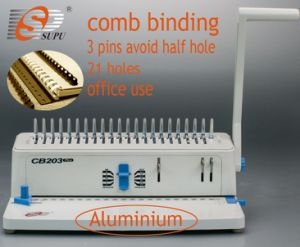 Manual Office Equipment Book Binder Comb Binding Machine (CB203) pictures & photos