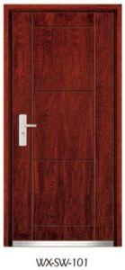 High-Quality Steel Wooden Door (WX-SW-101) pictures & photos