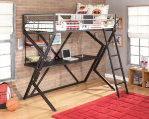 Metal Twin Loft Bed with Desk pictures & photos