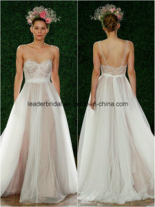 Spaghetti Wedding Ball Gowns A-Line Tulle Bridal Dresses Z2024 pictures & photos