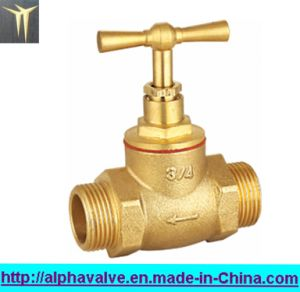 Brass Stop Valve for Water Male X Male (a. 0144)