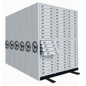 Movable Filing Cabinets Storage Shelf Bank Office Furniture Industrial High Density Steel Shelving pictures & photos