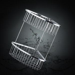 Bathroom Accessories of Chrome Metal Bathroom Shower Basket (SUS304) pictures & photos