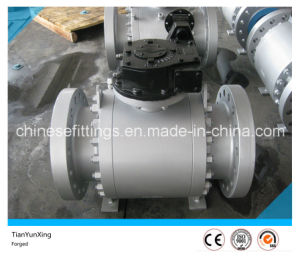 A105n API Gearbox Forging Flange Carbon Steel Ball Valve pictures & photos