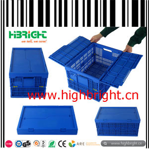 Mesh Plastic Foldable Crate Box with Lids pictures & photos