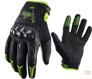 Leather Gloves Fullfinger Leather Motorcycle Glove pictures & photos