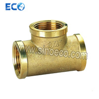 Brass Reduced Female Tee Pipe Fitting pictures & photos