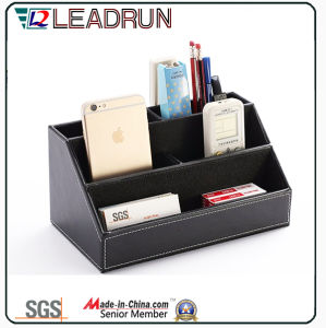 Contain Storage Collection Wooden Gift Tissue Pen Stationery Box with Leather Specail Paper (YLS82) pictures & photos