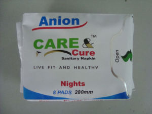 Ultra Thin Lady Anion Sanitary Napkin/OEM Sanitary Pads (240mm, 280mm, 155mm) pictures & photos