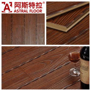 Beautiful Luxurious Style Red Color Embossed Laminated Flooring pictures & photos