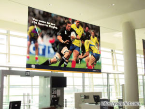 Customized Indoor Hang Ceiling Advertising PVC Vinly Banner With Printing pictures & photos