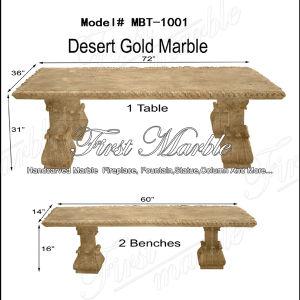 Desert Gold Bench & Table for Home Decoration Mbt-1001