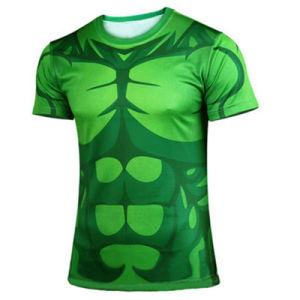 Men′s New Tights Green Giant Sport T-Shirt Dress