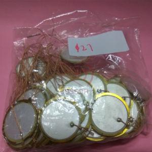 Double Sided Brass and Ceramic 27mm Piezo Braided Wire Buzzer 3kHz Piezoceramic pictures & photos