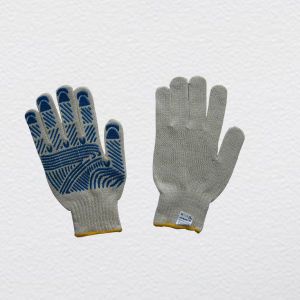 PVC Dotted Single Palm Knit Work Glove (2408) pictures & photos