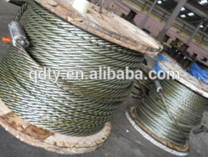 Rigging Hardware Manufacturer Hot DIP Galvanized Steel 7*19 Wire Rope pictures & photos