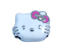 Cute 8mm Enamel Bracelet Slider Charm Metal (N9-287)