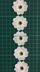 Hot Sell Fashion Polyester Lace Trimming with Eyelet Ym-4-12 pictures & photos