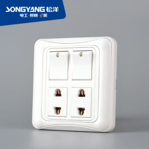 2gang+2socket Socket Switch for House