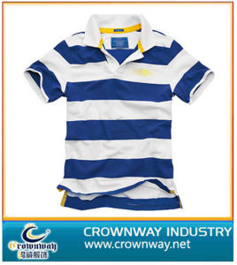 Men Custom Striped Golf Polo Shirt (CW-PS-17) pictures & photos