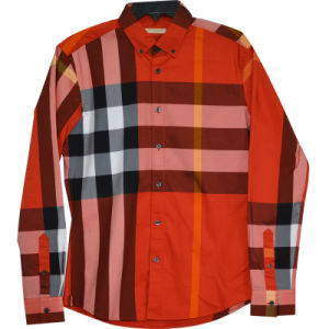 Xdl15035 Men′s Stretch Shirt with Matching Check