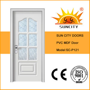 Best Quality PVC Coated MDF Door Made in China (SC-P121) pictures & photos