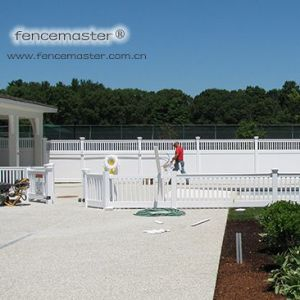 Semi-Privacy High Quality PVC Fence pictures & photos