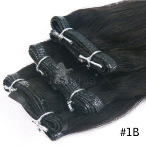 Wholesale Virgin Remy Hair Glue Hair Weft pictures & photos