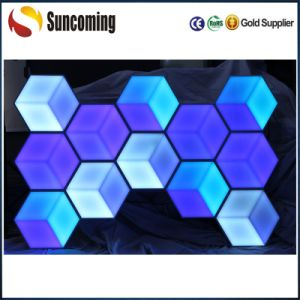 LED 3D Honeycomb Stage/Wall Decoration LED RGB Panel Light pictures & photos