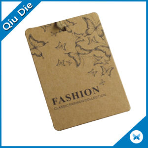 Custom Design Recycled Kraft Paper Jeans Garment Hang Tag pictures & photos